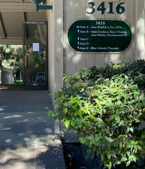 Entrance to Anne K. Shideler's therapeutic services office